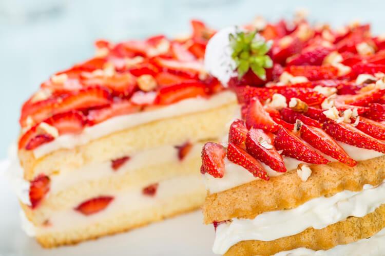 gateau-fraises